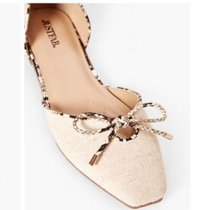 Side cut out flats - natural snake